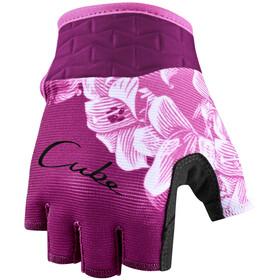 Cube Performance Short Finger Gloves Kids, violeta/rosa